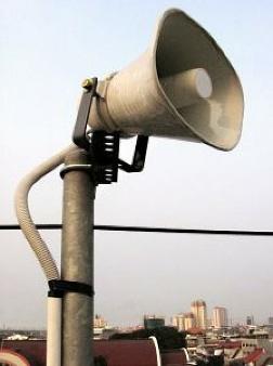 megaphone-in-a-pole